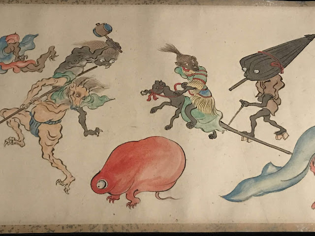 Photo of detail from Itaya Hiroharu's 'Night procession of the hundred demons, c. 1860', AGNSW