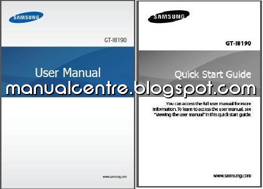 Samsung Galaxy S III Mini Manual and Quick Start Guide Cover