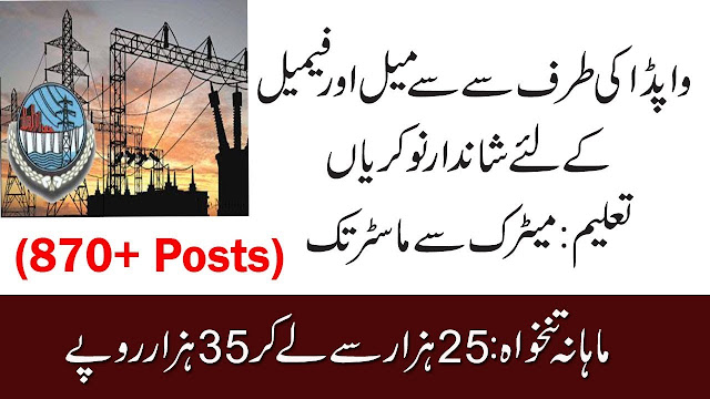 870+Vacancy WAPDA New Jobs 2019 | Latest WAPDA Jobs 2019