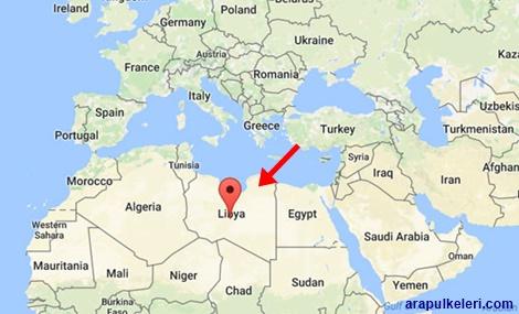 Libya haritada yeri