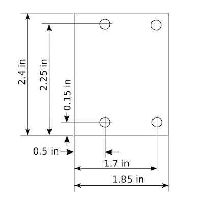 DRO Adapter Mechanical Drawing