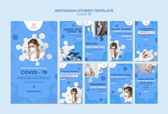 Covid-19 Instagram Stories Collection