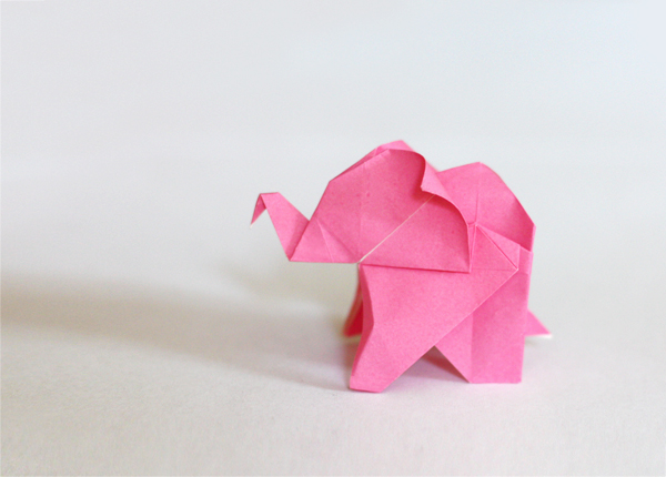 Easy Cute Origami Elephant