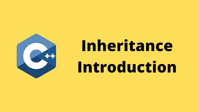HackerRank Inheritance Introduction solution in c++ programming
