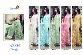 Saniya Trendz Rouche pakistani Suits