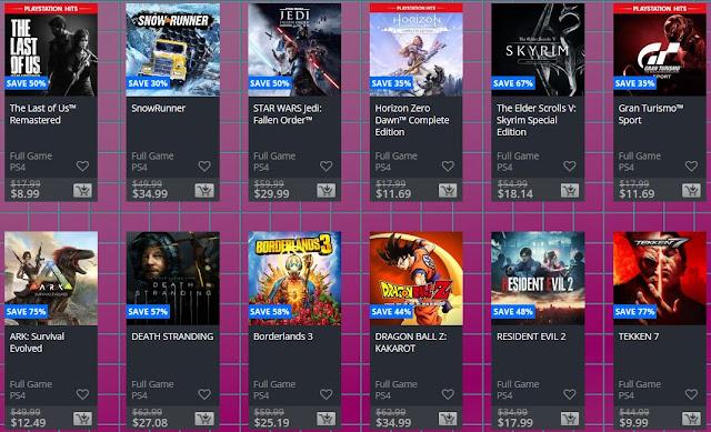 خصومات ضخمة تنطلق الأن على أكثر من 400 لعبة لجهاز PS4 في متجر PlayStation Store
