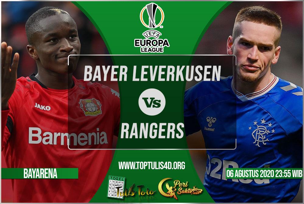 Prediksi Bayer Leverkusen vs Rangers 06 Agustus 2020