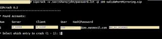 Buscando la contraseña de la cuenta VoIP en el Sercomm FG824CD