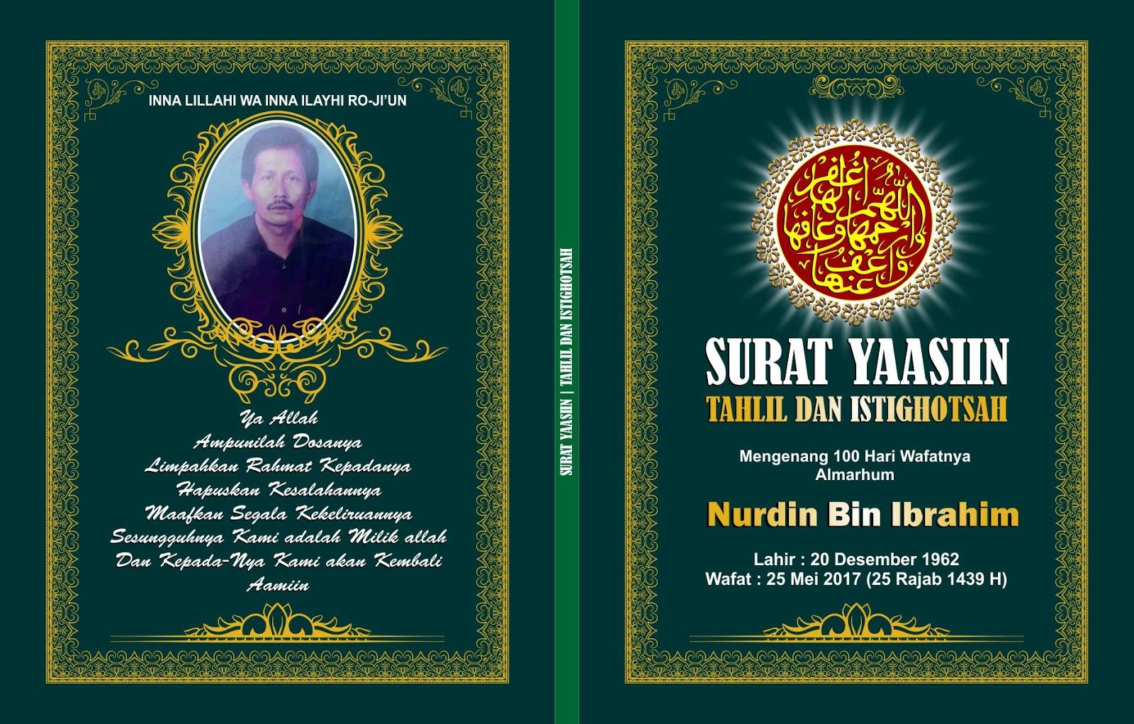 Template Desain Cover Buku Yasin ( Free CDR dan PSD ...