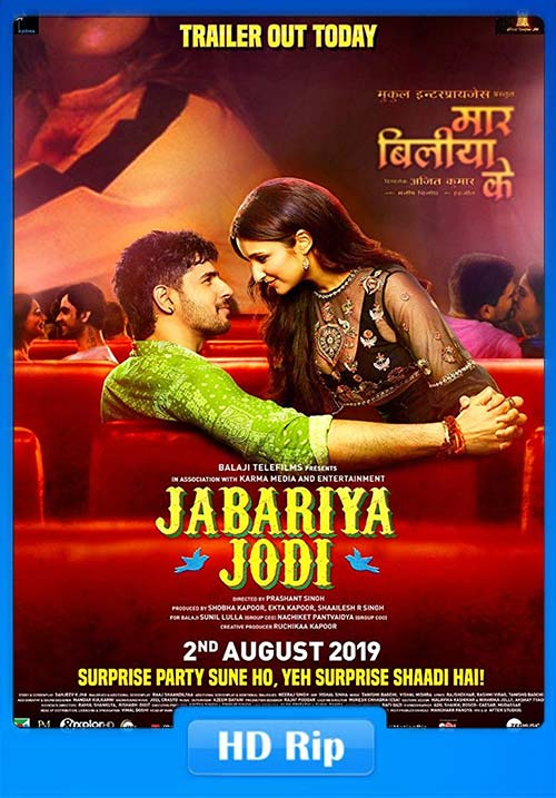 Jabariya Jodi 2019 Hindi 720p HDRip x264 | 480p 300MB | 100MB HEVC