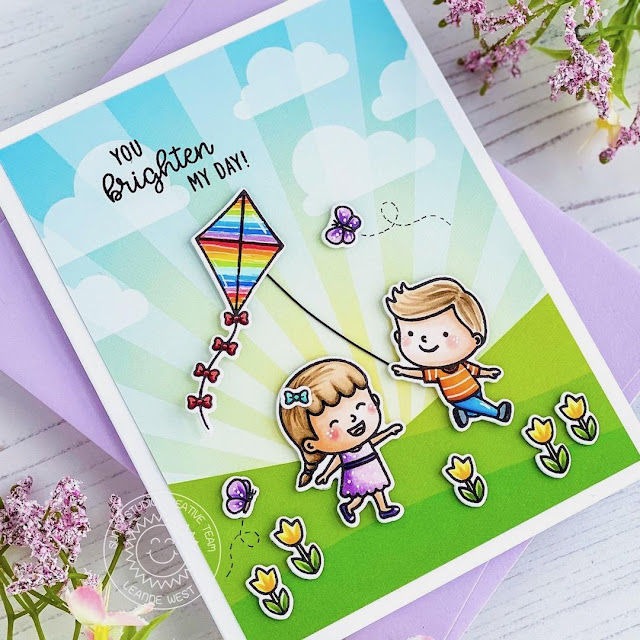 Sunny Studio Stamps: Spring Showers Everyday Card by Leanne West