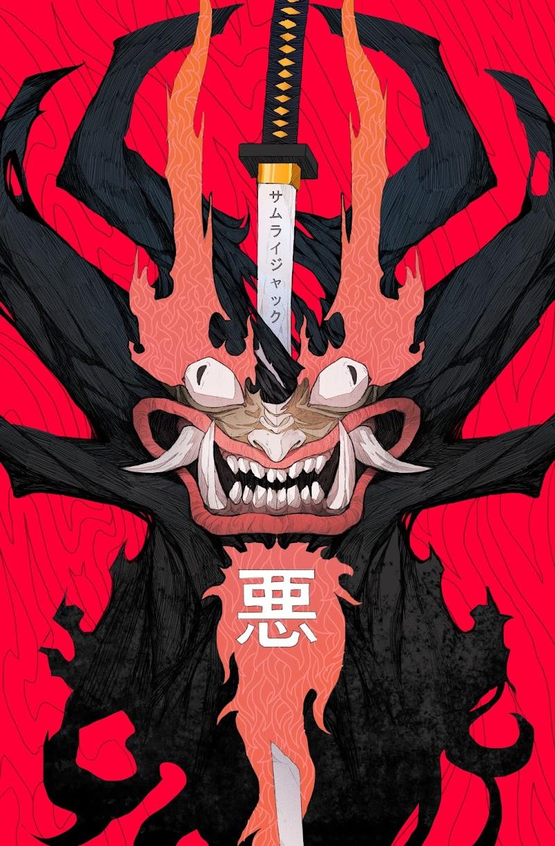 Wallpaper of anime samurai jack chacarcter aku or abu or akuma