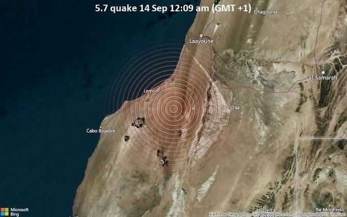 Un Terremoto de magnitud 5,7 sacude el Sáhara Occidental.