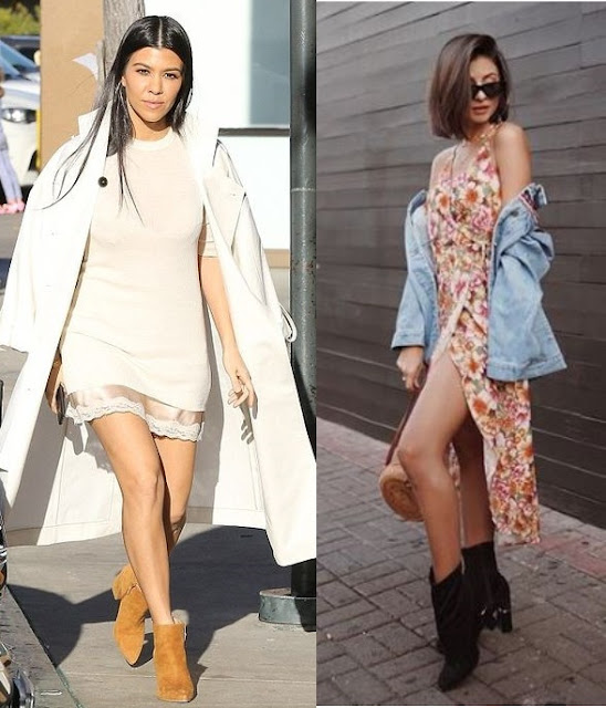 Kourtney Kardashian, Viih Rocha, Looks com vestido e bota 2019