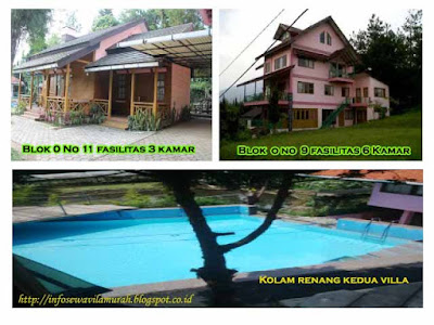 Villa Istana Bunga Di Lembang dengan kolam renang