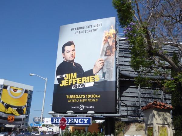 Jim Jefferies Show series launch billboard