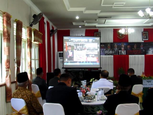 Peringatan HUT TNI Ke-75 Dipimpin Presiden Joko Widodo Secara Virtual