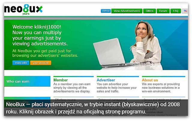 Zarobki w NeoBux (wypłacalne strony, oglądanie reklam, ankiety).