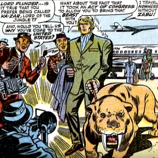 Amazing Spider-Man #57, don heck, john romita, zabu on a leash, ka-zar arrives in new york city, to be greeted by the press