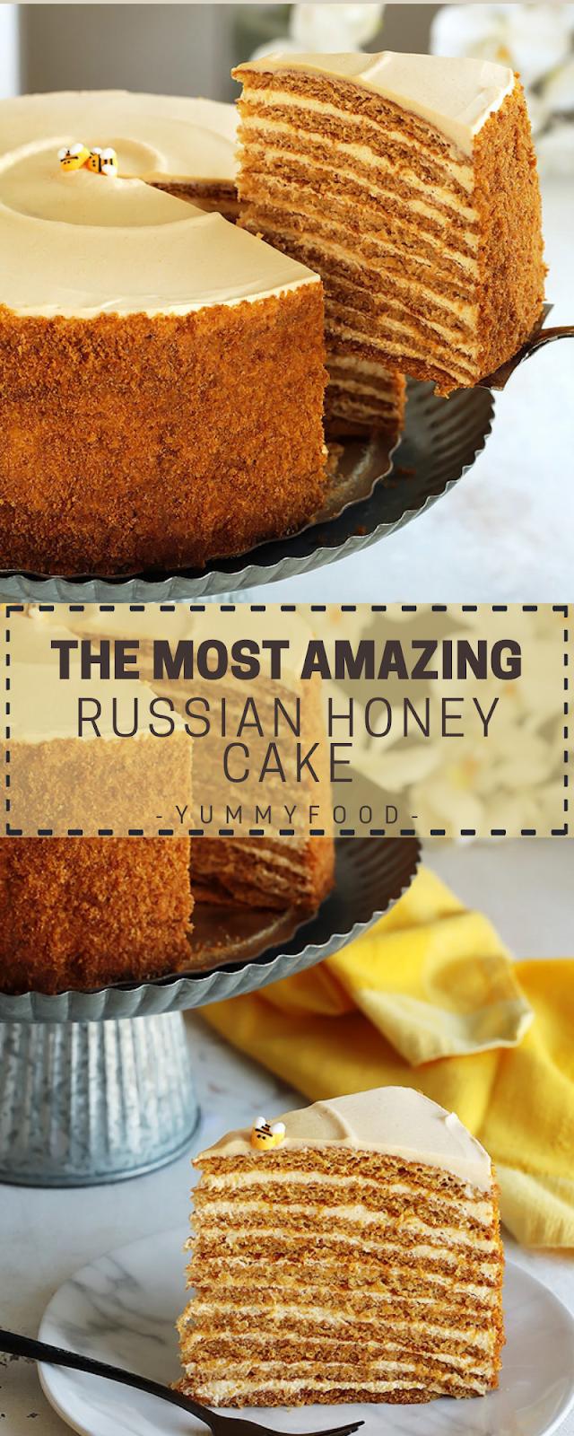 THE MOST BEAUTIFUL RUSSIAN HONEY CAKE