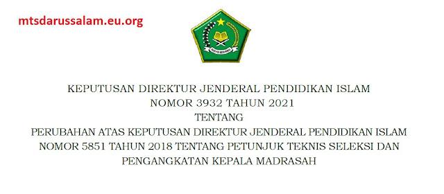 Juknis Pengangkatan Kamad (Kepala Madrasah) Tahun 2021