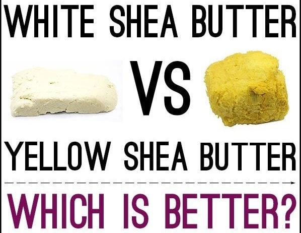raw white shea buter vs yellow shea butter differences