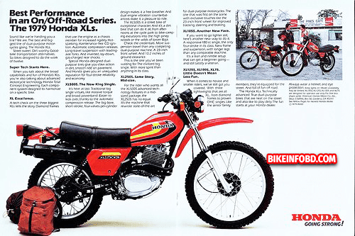 Honda XL185 Amazing Infographics