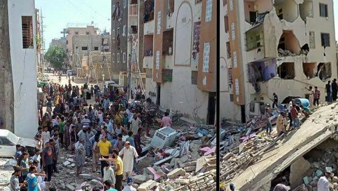 کراچی میں عمارت گرنے سے دو افراد ہلاک ، آٹھ زخمی