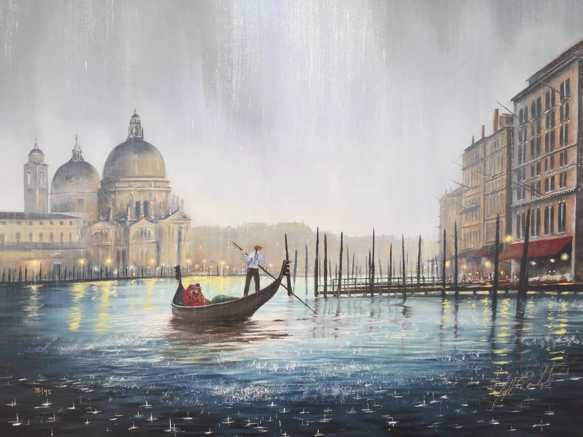 03-Forever-In-Your-Arms-Jeff-Rowland-Paintings-of-Romantic-Scenes-in-the-Rain-www-designstack-co