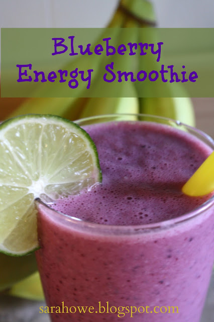 Anyone Up for a Yummy Smoothy - blueberry energy smoothie