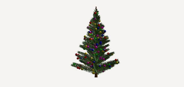 Matlab Christmas Tree Plot- Merry Christmas- Christmas celebration through matlab way