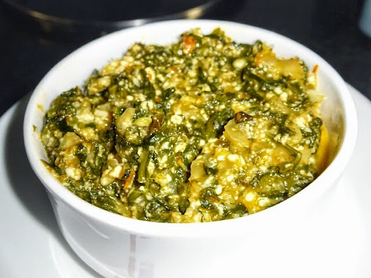 Paneer Palak Bhurji | Scrambled Cottage Cheese With Spinach