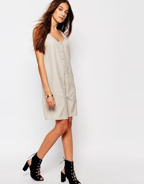 beige pocket dress, daisy street beige dress,