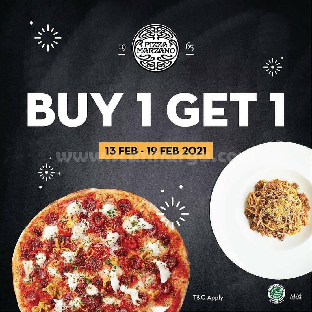 Promo PIZZA MARZANO Beli 1 GRATIS 1