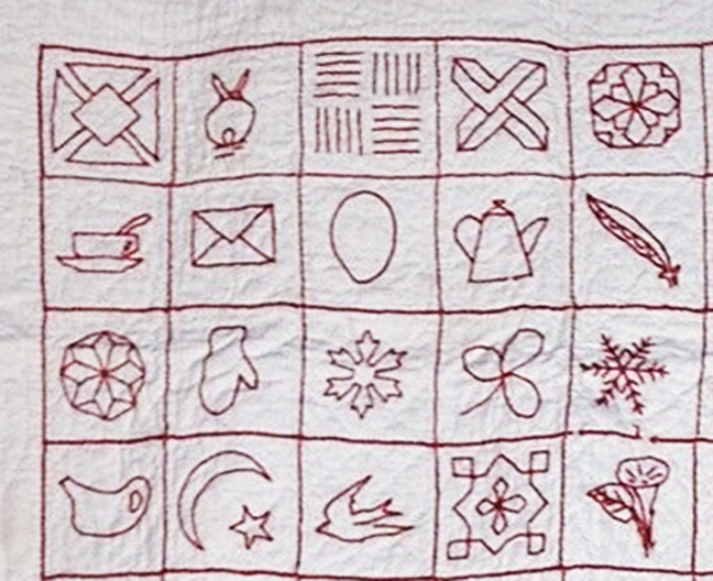 Civil War Quilts Symbolism In Red Work Quilts