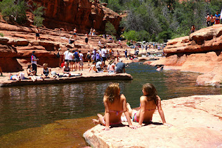 swimming at Oak Creek Canyon
