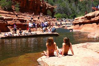 swimming at Oak Creek Canyon