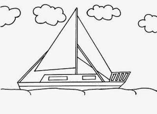 desenhos para colorir de Barco bem grandes