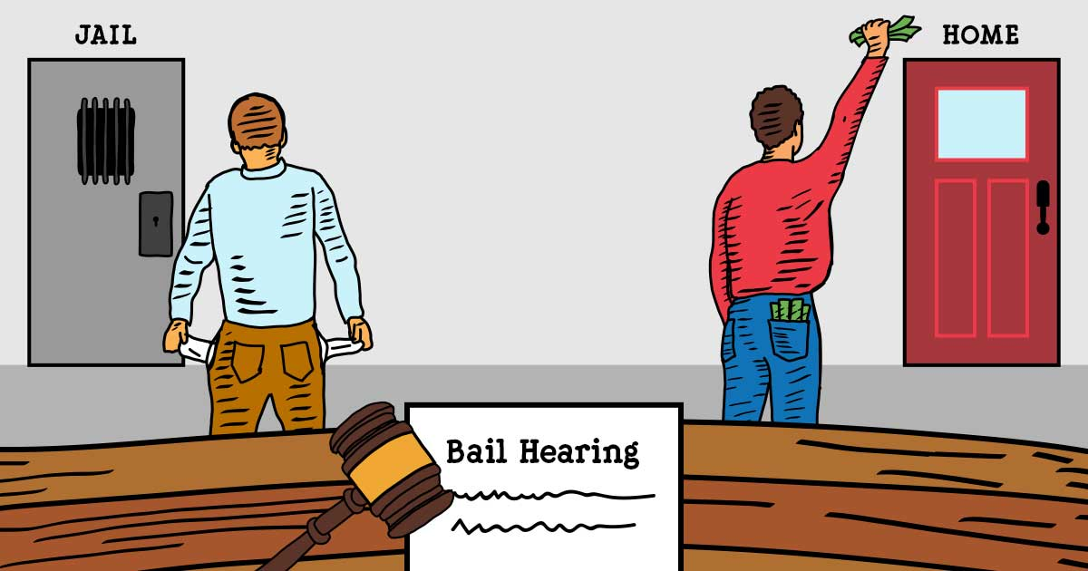 申請保釋是一個可讓被捕人或被告人在有條件下獲得保釋的法律程序。除非法官認為被告有可能在下次聆訊時缺席、在保釋期間再犯案、騷擾證人或阻礙調查,否則通常都會批准保釋。