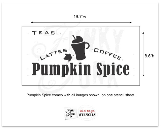 Pumpkin Spice stencil from Old Sign Stencils