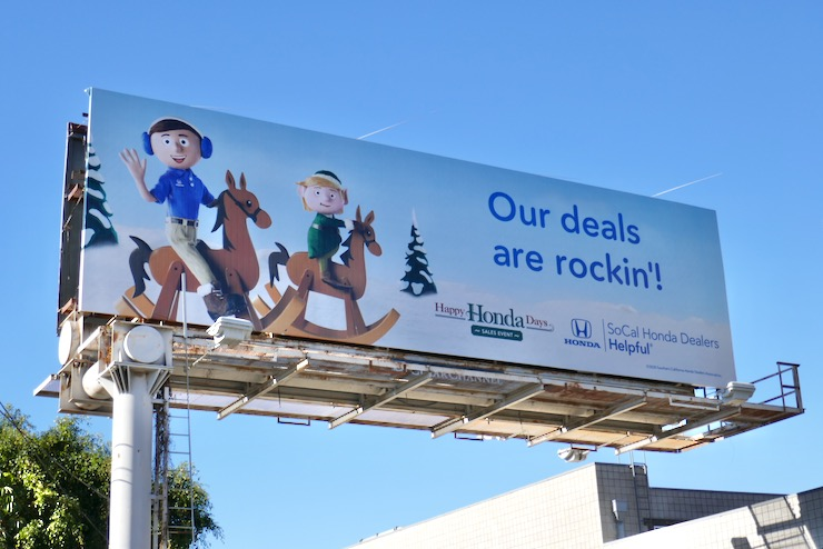 Our deals are rockin Happy Honda Days billboard
