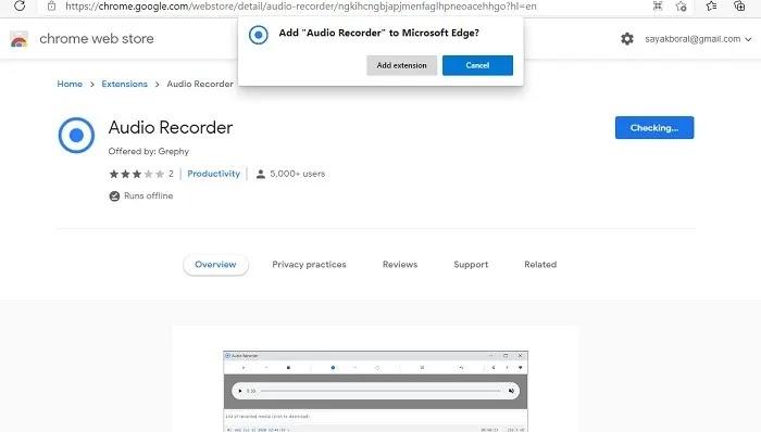 تسجيل اجتماع مضيف الصوت استخدام الميكروفون