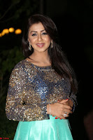 Nikki Galrani in Green Skirt  Top at Marakathamani music launch ~  Exclusive (93).JPG