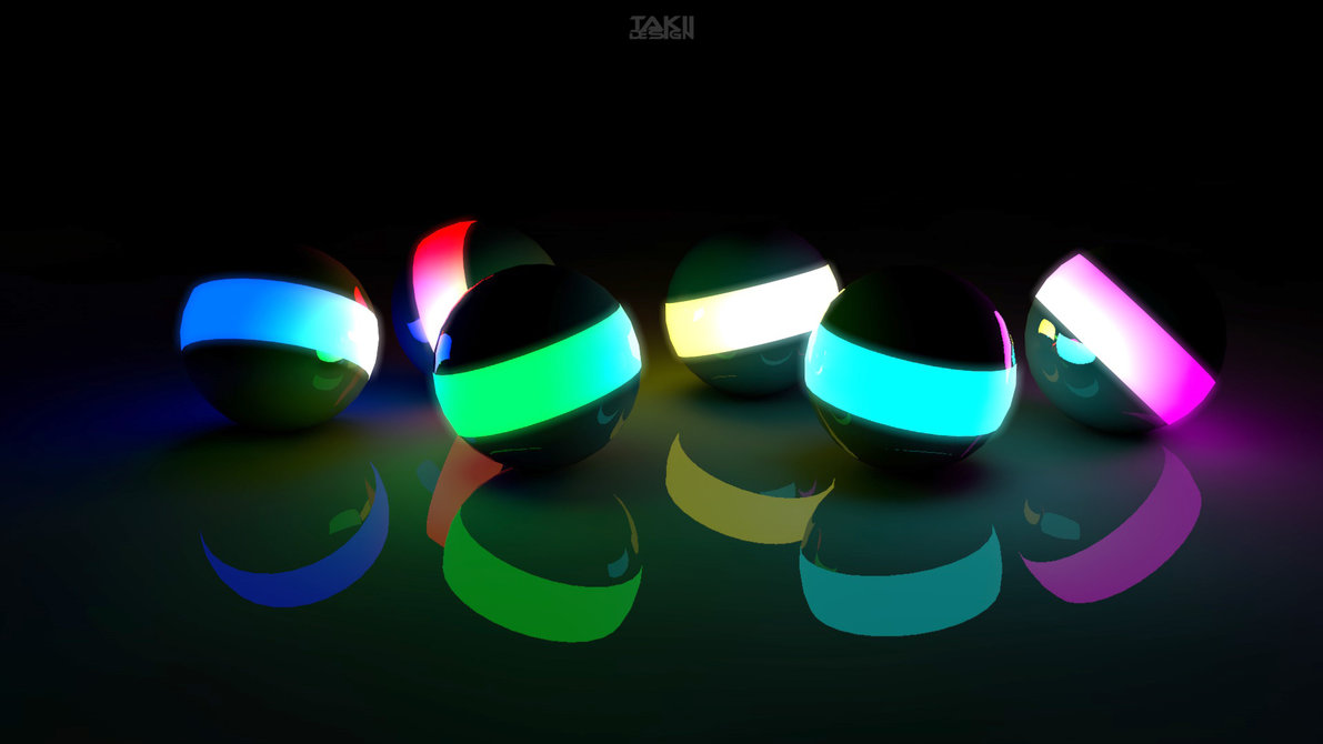 glowing balls 3d desktop wallpaper full hd ~ portrait wallpaper