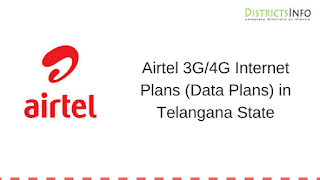 Airtel 3G/4G Internet Plans (Data Plans) in Telangana State