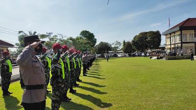 Sebanyak 250 Personel Gabungan Siap Amnakan Pilwana Serentak 2021 Dharmasraya