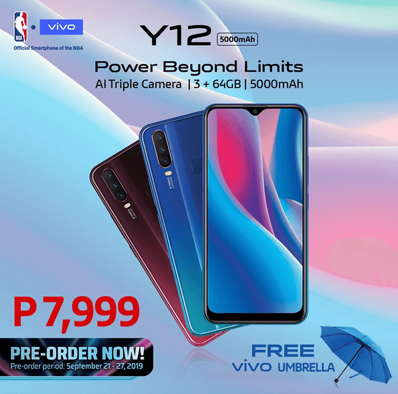 Vivo Y12 with 5,000mAh battery, triple-cam launches in PH, priced at PHP 7,999!