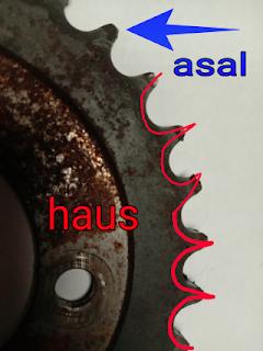 Gambar sprocket motor haus