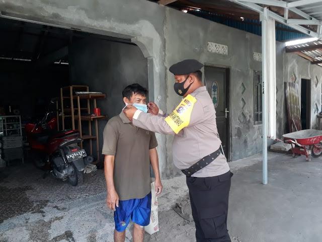 Putus Mata Rantai Penyebaran Covid-19, Personel Polsek Banama Tingang Ajak Masyarakat Taati Protokol Kesehatan