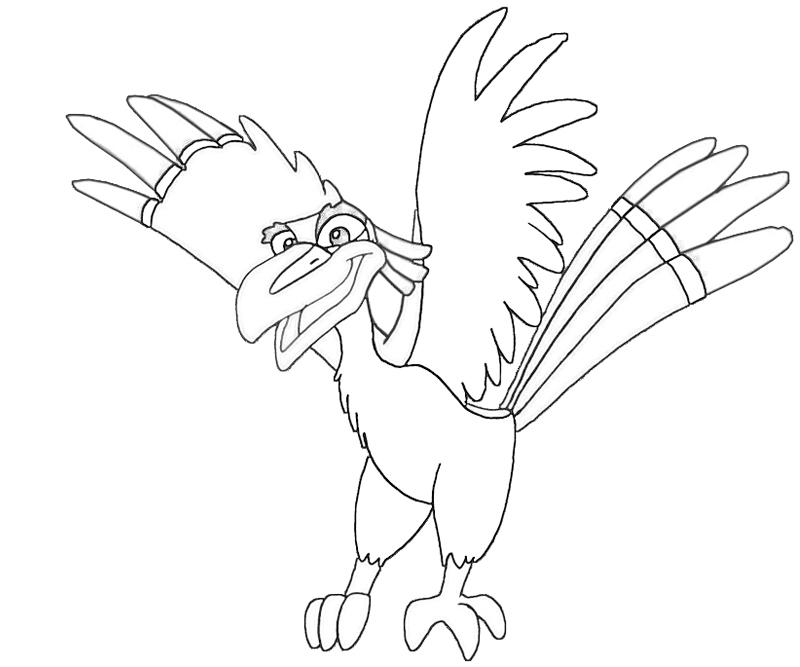 zazu lion king coloring pages - photo#23